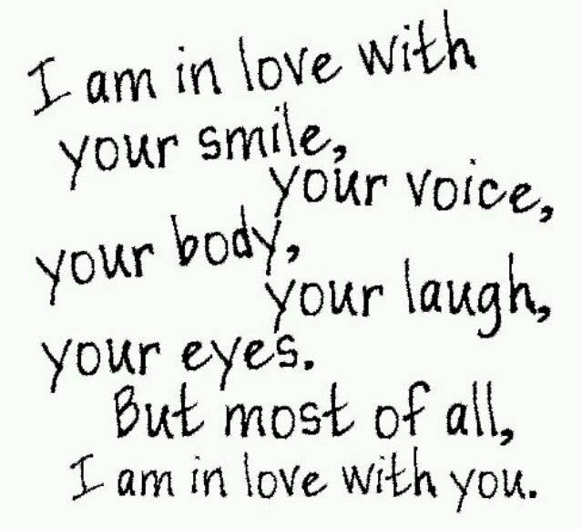 best love quotes i am in love with your smile your voice