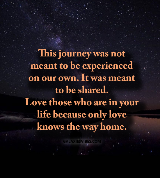Love Not Meant To Be Quotes: This Journey Was Not Meant To Be Experienced On Our Own
